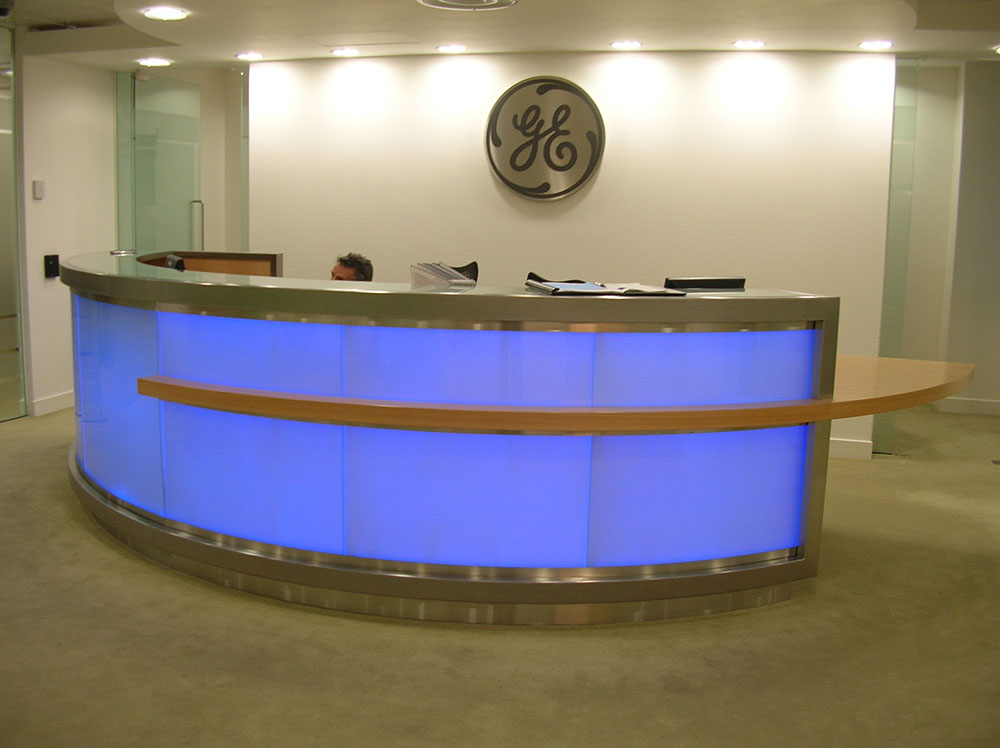 Illuminated Reception Desks Litetile